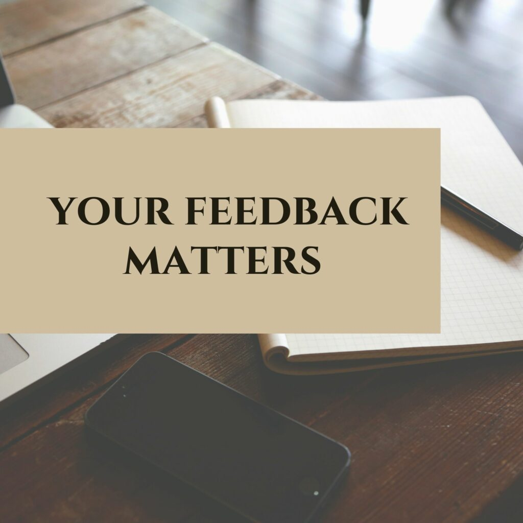 feedback ; your feedback matters ; informacja zwrotna