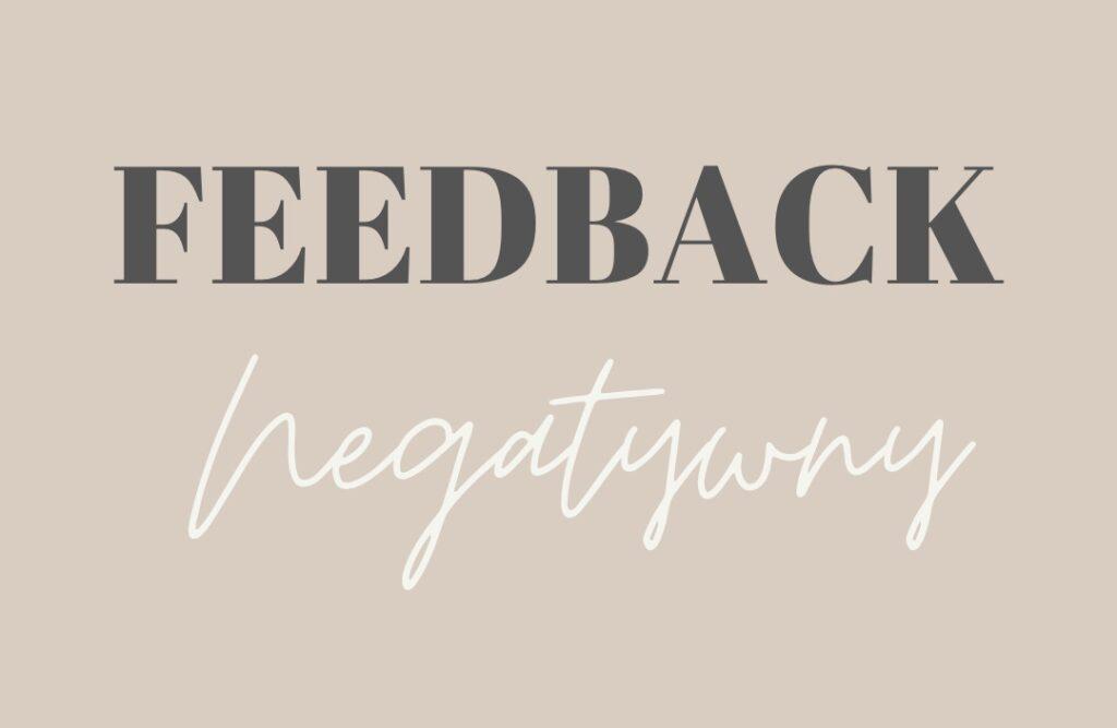 feedback negatywny ; informacja zwrotna